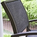 Kendall Wicker Balcony Height Stacking Cafe Chair - 9W80