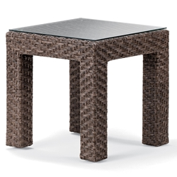 Telescope Casual Lake Shore Wicker 20 inch Square End Table - 2L90