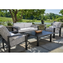 Telescope Casual Larssen Modern Patio Furniture Set with Fire Table - TC-LARSSEN-SET4