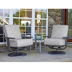 Telescope Casual Larssen Cushion Swivel Rocker Lounge Chair Set with Side Table - TC-LARSSEN-SET5