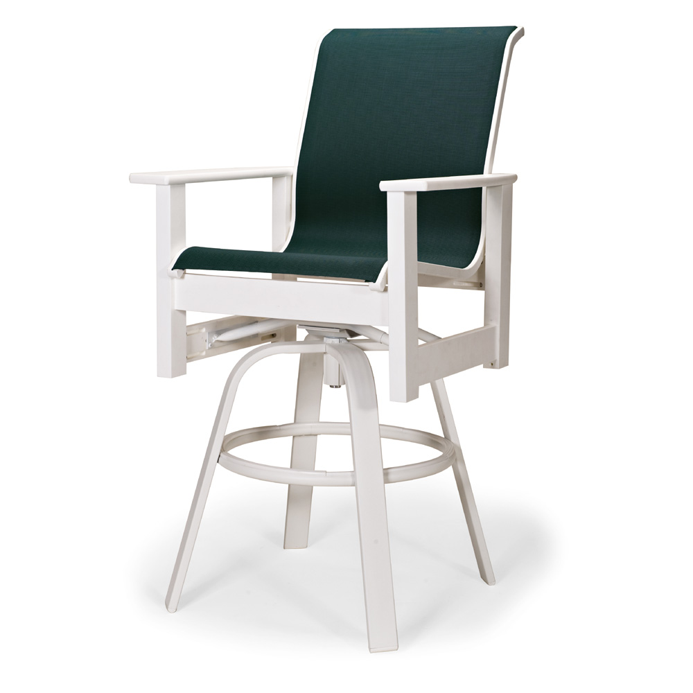 Leeward MGP Sling Bar Height Swivel Arm Chair
