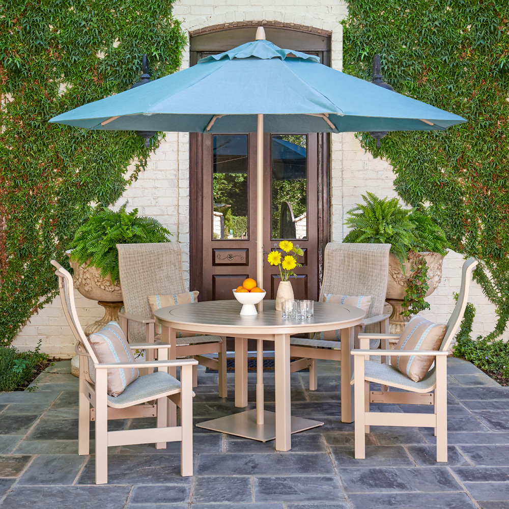 Telescope Casual Leeward Sling Marine Grade Polymer Dining Set - TC-LEEWARD-SET16