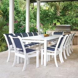 Telescope Casual Leeward MGP Big Outdoor Dining Set for 12 - TC-LEEWARD-SET18