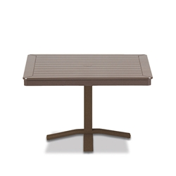 "Telescope Casual MGP 36"" Square Chat Height Table with Pedestal Base - 22""H - T110-1X20"