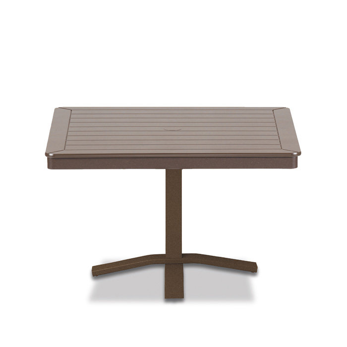 Telescope Casual Mgp 36 Square Chat Height Table With Pedestal Base 22 H
