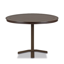 "Telescope Casual Marine Grade Polymer 42"" Round Balcony Height Table with Pedestal Base - T120-3X20"