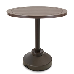 "Telescope Casual 48"" Round MGP Bar Table with Weighted Pedestal Base - TM80-4P50"