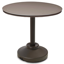 "Telescope Casual 54"" Round MGP Bar Table with Weighted Pedestal Base - TP20-4P50"