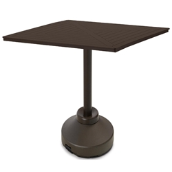 "Telescope Casual 64"" Square MGP Bar Table with Weighted Pedestal Base - TP60-4P50"