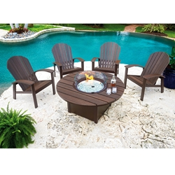 Telescope Casual Newport Patio Set with Adirondack Chairs and Fire Table - TC-NEWPORT-SET2