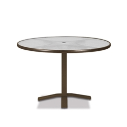 "Telescope Casual Obscure Acrylic 42"" Round Dining Table with Pedestal Base - T900-ACR-2X20"