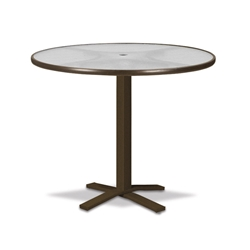 "Telescope Casual Obscure Acrylic 42"" Round Bar Table with Pedestal Base - T900-ACR-4X20"