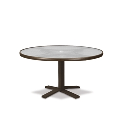 "Telescope Casual Obscure Acrylic 36"" Round Chat Table with Pedestal Base - T960-ACR-1X20"