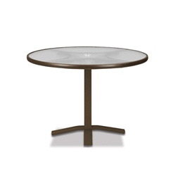 "Telescope Casual Obscure Acrylic 36"" Round Dining Table with Pedestal Base - T960-ACR-2X20"