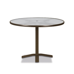 "Telescope Casual Obscure Acrylic 36"" Round Balcony Height Table with Pedestal Base - T960-ACR-3X20"