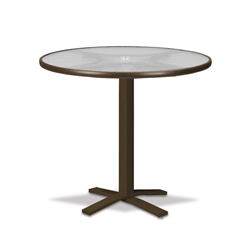 "Telescope Casual Obscure Acrylic 36"" Round Bar Table with Pedestal Base - T960-ACR-4X20"