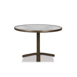 "Telescope Casual Obscure Acrylic 30"" Round Dining Table with Pedestal Base - T980-ACR-2X20"