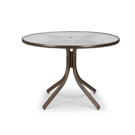 Telescope Casual 42 Inch Obscure Acrylic Round Diningtable T900acr 2w20leg