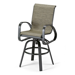 Primera Sling Bar-Height Swivel Arm Chair