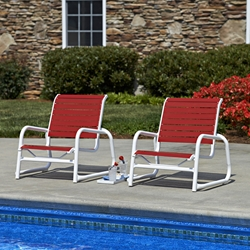 Telescope Casual Reliance Contract Strap Set of 2 Sand Chairs - TC-RELIANCE-SET5