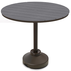 "Telescope Casual 54"" Round Rustic Polymer Bar Table with 120 lb Pedestal Base - TP20R-4P50"
