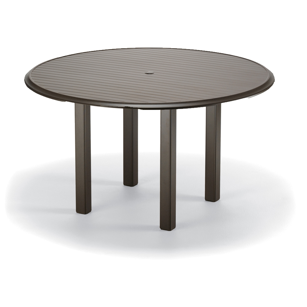 Telescope Casual 56 inch round Aluminum Slat Top Balcony Table - 3670BAL