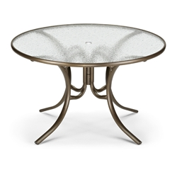 "48"" Round Glass Top Dining Table"