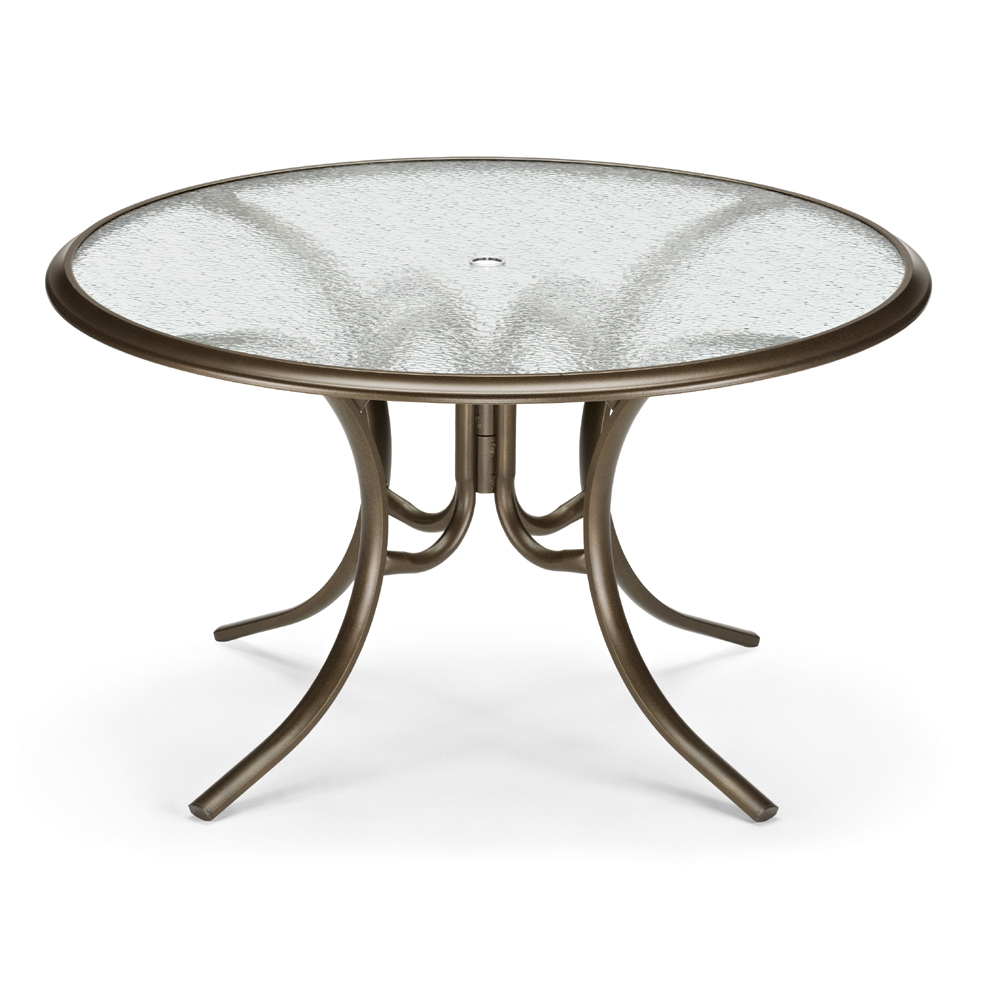 "56"" Round Glass Top Dining Table"