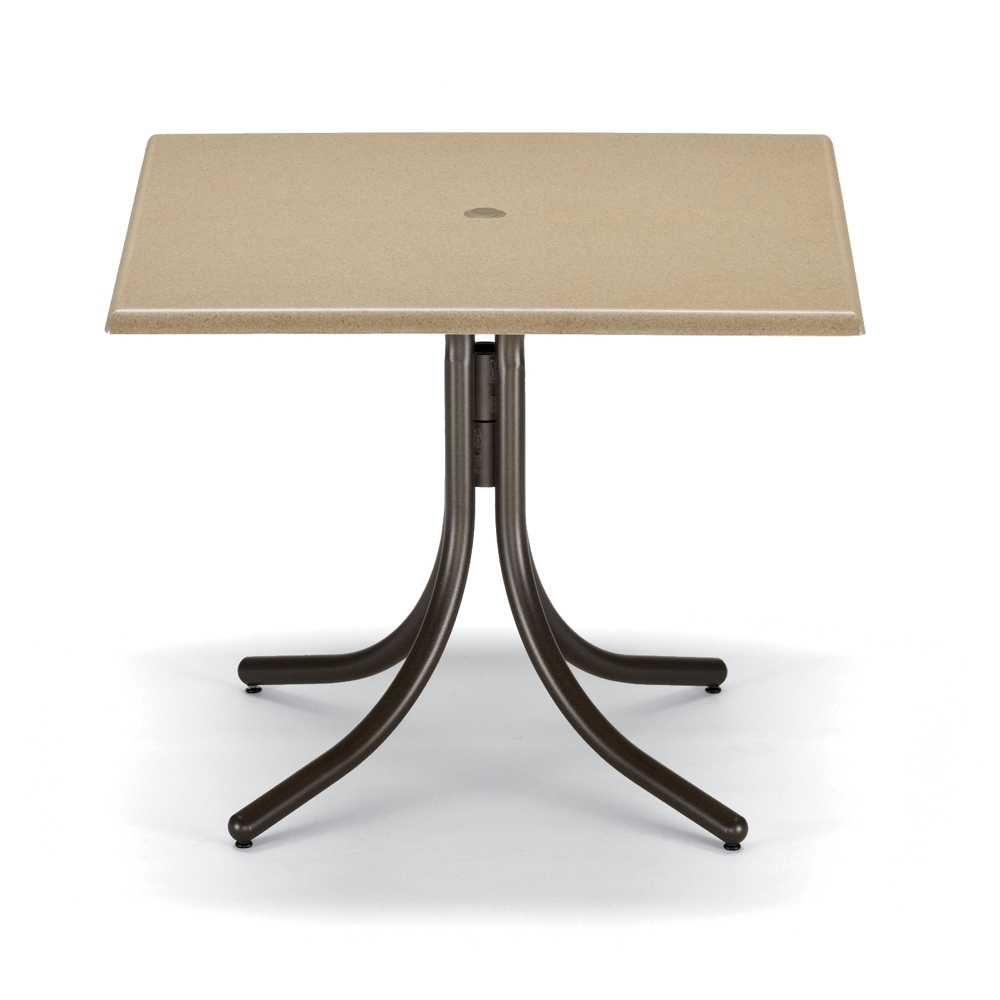 Awesome Telescope Casual 36 Square Werzalit Top Dining Table W Pedestal Base Interior Design Ideas Gresisoteloinfo