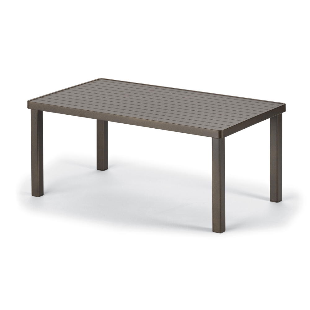 "24 x 42"" Aluminum Slat Coffee Table"
