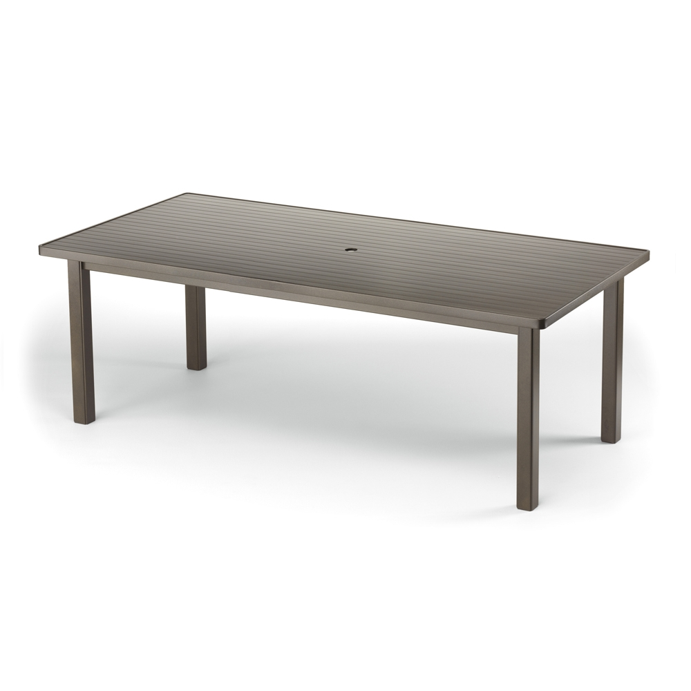 Telescope Casual 42 inch by 84 inch Aluminum Slat Top Dining Table - 3020-385
