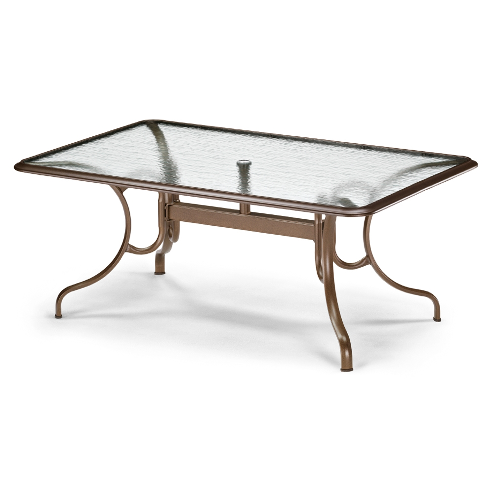 "42"" by 68"" Rectangle Glass Top Dining Table"