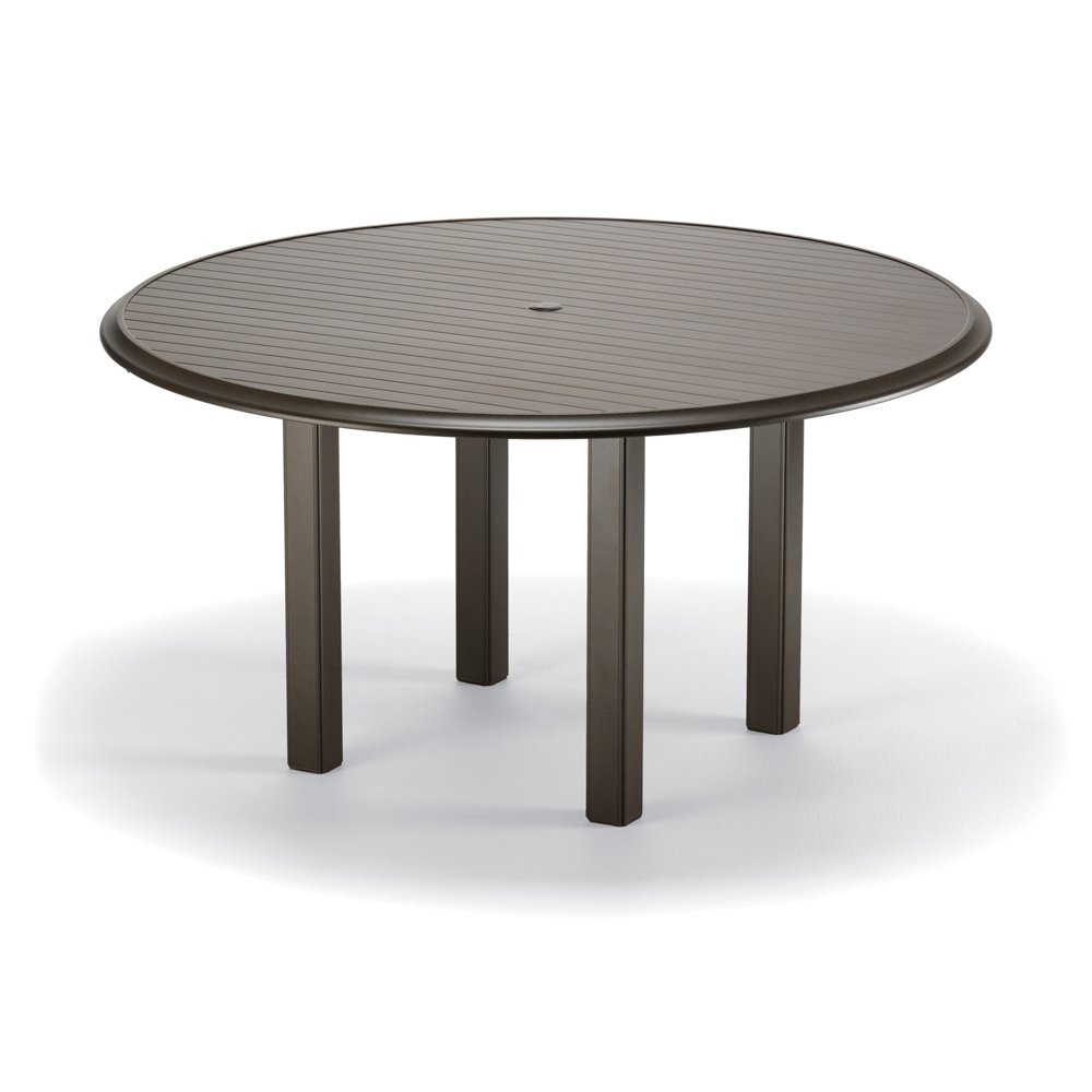 "Telescope Casual Aluminum Slat Top Table - 56"" Round"