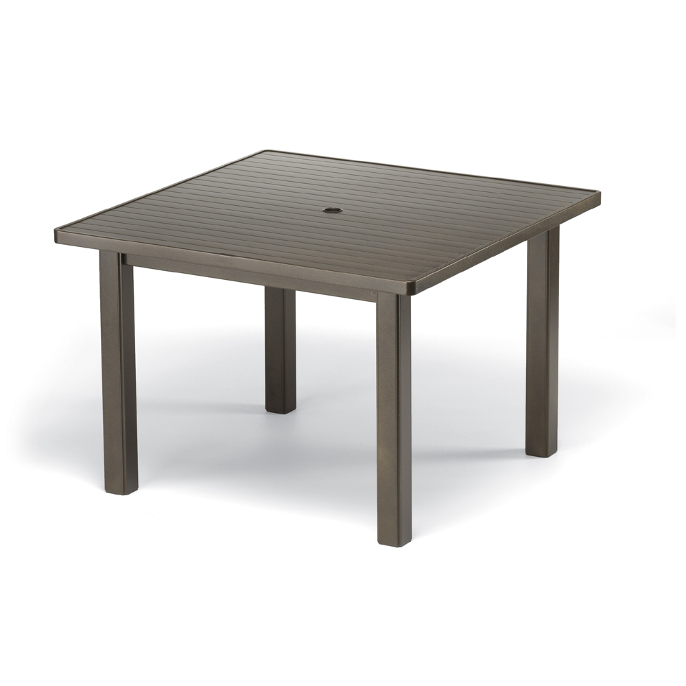 "Outdoor Slat Dining Table - Telescope Casual 42"" Square"
