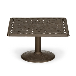 "36"" Square Cast Top Conversation Table"