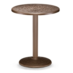 "30"" Round Cast Top Counter Table w/Pedestal Base"