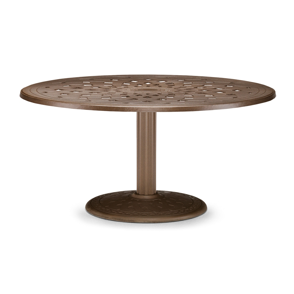 "56"" Round Cast Top Dining Table w/Pedestal Base"