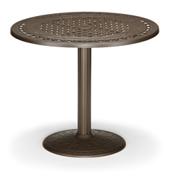 "48"" Round Cast Top Counter Table w/Pedestal Base"