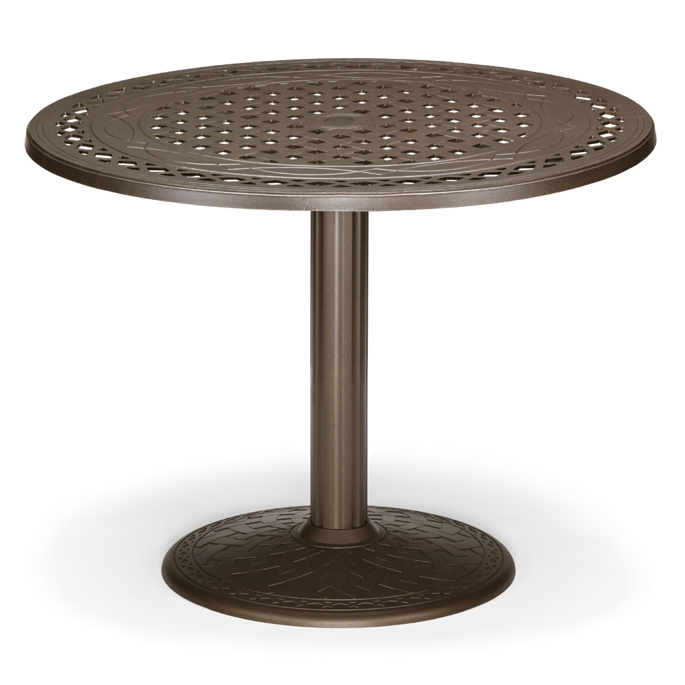 "48"" Round Cast Top Dining Table w/Pedestal Base"