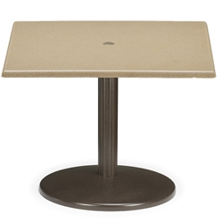 Telescope Casual 36 inch Square Werzalit Chat Table with Spun Pedestal Base - TW50-8W80
