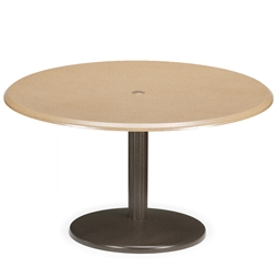 Telescope Casual 42 inch Round Werzalit Chat Table with Spun Pedestal Base - TW70-8W80