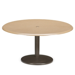 Telescope Casual 48 inch Round Werzalit Chat Table with Spun Pedestal Base - TW80-8W80
