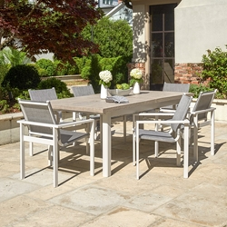 Telescope Casual Tribeca Modern Outdoor Dining Set for 6 - TC-TRIBECA-SET1