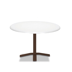 "Telescope Casual Werzalit 42"" Round Dining Table with Pedestal Base - T520-2X20"