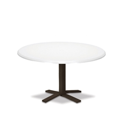 "Telescope Casual Werzalit 48"" Round Chat Table with Pedestal Base - T580-1X20"