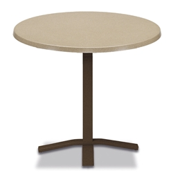 "Telescope Casual Werzalit 30"" Round Balcony Height Table with Pedestal Base - WW20-3X20"