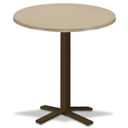 "Telescope Casual Werzalit 30"" Round Bar Table with Pedestal Base - WW20-4X20"