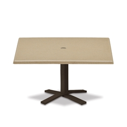 "Telescope Casual Werzalit 36"" Square Chat Table with Pedestal Base - WW50-1X20"