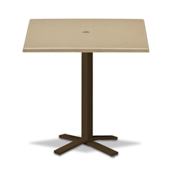 "Telescope Casual Werzalit 36"" Square Bar Table with Pedestal Base - WW50-4X20"
