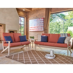 Telescope Casual Wexler MGP Sofa and Loveseat Outdoor Furniture Set - TC-WEXLER-SET2